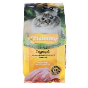 Chammy сухой для кошек 1,9 кг курица