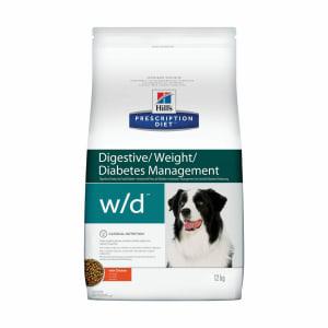 Сухой диетический корм для собак Hill's Prescription Diet w/d Digestive/Weight/Diabetes Management при поддержании веса и сахарном диабете с курицей, 12 кг