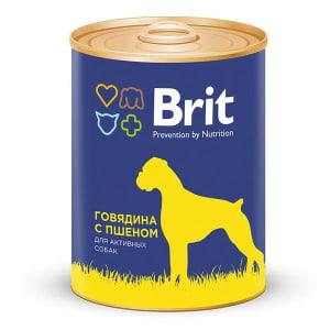 Brit Premium консерва для собак со вкусом говядины с пшеном, 0.85кг