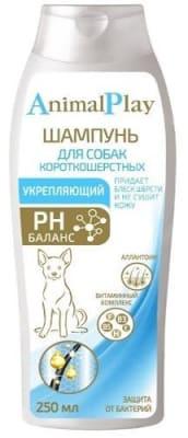 Шампунь Энимал Плэй для короткошерстных собак укрепляющий, 0.250л