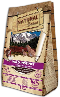 NATURAL Greatness Wild Instinct Recipe сухой корм для кошек, 6кг