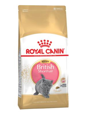 Royal Canin BRITISH SHORTHAIR KITTEN 2кг, Корм для британских короткошерстных котят в возрасте до 12 месяцев
