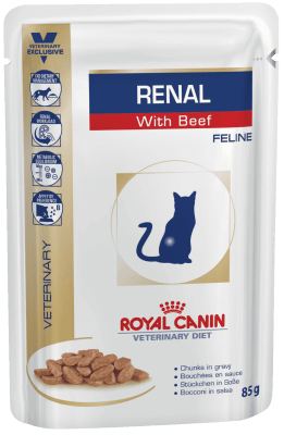 Royal Canin RENAL С ГОВЯДИНОЙ 0.085кг, Диета для взрослых кошек с хронической почечной недостаточностью