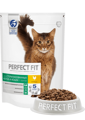 PERFECT FIT стерелизованых котов со вкусом курицы