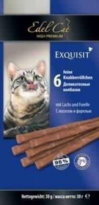 Лакомства для кошек Эдель Кэт Жевательные колбаски лосось, форель 0.03кг