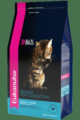 Сухой корм Eukanuba для взрослых кошек старше 7 лет, 0.4кг