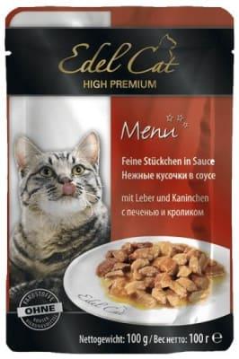 Консерва Эдель Кэт для кошек Печень кролик в соусе, 0.1кг