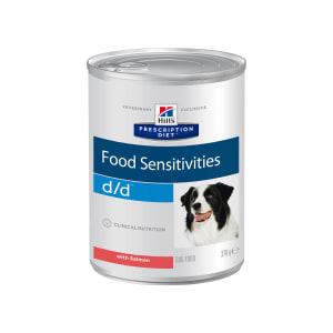 Влажный диетический корм для собак Hill's Prescription Diet d/d Food Sensitivities при пищевой аллергии, с лососем 0.37кг
