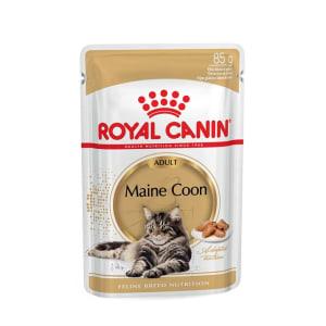Royal Canin MAINE COON ADULT (В СОУСЕ) 0.085кг, Влажный корм для кошек породы мейн-кун старше 15 месяцев