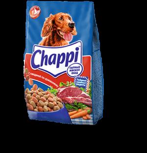 Корм для собак Chappi со вкусом говядины по-домашнему, 2.5кг