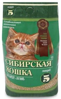Наполнитель для котят Сибирская Кошка лесной, 5л