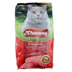 Chammy сухой для кошек 1,9 кг говядина