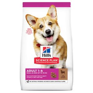 Сухой корм Hill's Science Plan для взрослых собак мелких пород для поддержания здорового иммунитета с ягненком и рисом, 0.3 кг