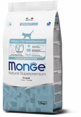 Monge Cat  Monoprotein корм для котят с форелью, 1.5кг
