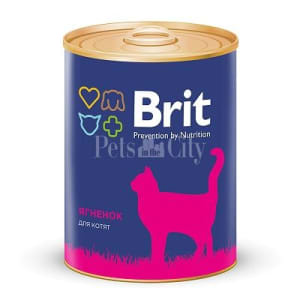Brit Premium консерва для котят со вкусом ягненка, 0.34кг