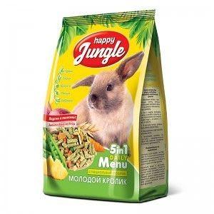 Корм для кроликов Happy Jungle для молодых 400 гр