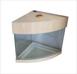 Аквариум - панорама угловой с крышкой-подсветкой, 60 литров