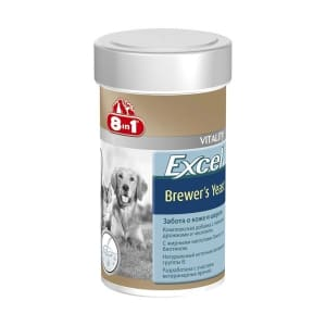 8 в 1 Эксель Дрожжи пивные (260 таблеток) 185 мл для собак