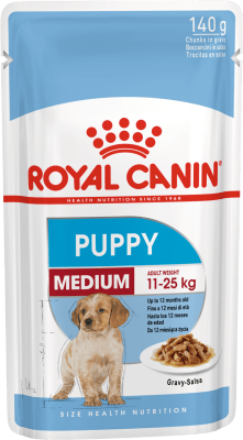 Royal Canin MEDIUM PUPPY 0.140кг, Корм для щенков с 2 до 12 месяцев