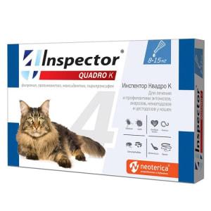 Капли на холку Inspector Quadro для кошек 8 - 15 кг