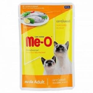 Ме-О пауч для кошек со вкусом скумбрии в желе, 0.08кг