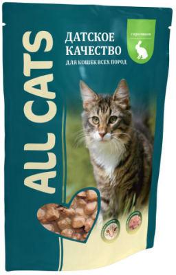 All Cats пауч для кошек со вкусом кролика, 0.085кг
