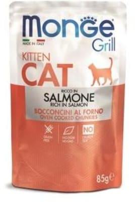 Monge Cat Grill Pouch паучи для котят норвежский лосось 85г