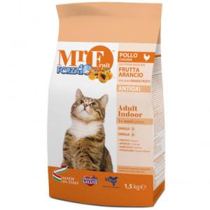 Корм для кошек Forza10 Mr. Fruit Adult Indoor со вкуом курицы, риса, кукурузы, 1.5кг