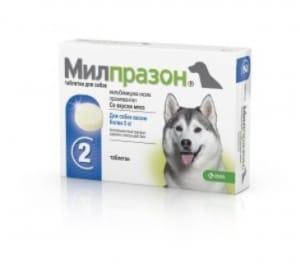 Милпразон для собак от 5 кг 12,5 / 125 мг (упаковка 2 таблетки)
