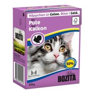 Bozita консерва для кошек со вкусом рубленой индейки, 0.37кг