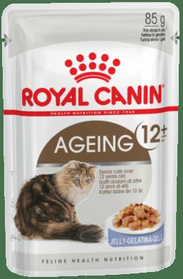 Royal Canin AGEING +12 (В ЖЕЛЕ) 0.085кг, Влажный корм для кошек старше 12 лет