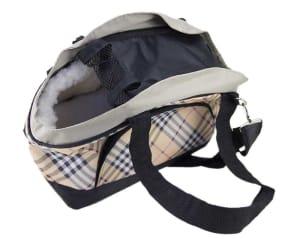 DOGMAN модельная сумка-переноска с мехом Сити