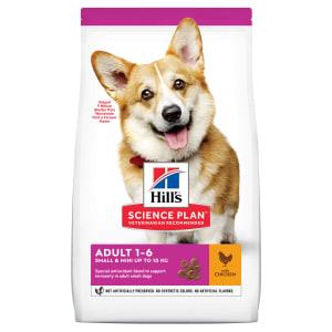 Сухой корм Hill's Science Plan для взрослых собак мелких пород для поддержания здоровья кожи и шерсти с курицей, 0.3 кг