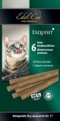 Лакомства для кошек Эдель Кэт Жевательные колбаски заяц, печень, 0.03кг
