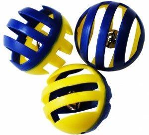 Игрушка для кошек № 1 Мяч погремушка решетка 4 см ИУ3