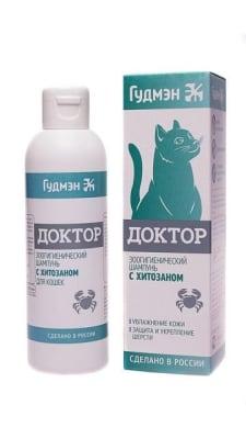 Шампунь Доктор Гудмэн для кошек с хитозаном, 0.200л