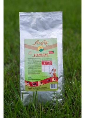 LiveRa STERILIZED, сухой корм для стерилизованных кошек, 10кг