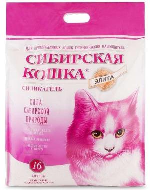 Наполнитель для привередливых кошек Сибирская Кошка Элитный силикагель,16л