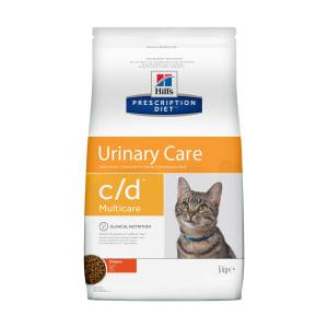 Сухой диетический корм для кошек Hill's Prescription Diet c/d Multicare Urinary Care при профилактике цистита и мочекаменной болезни (мкб) с курицей, 5 кг