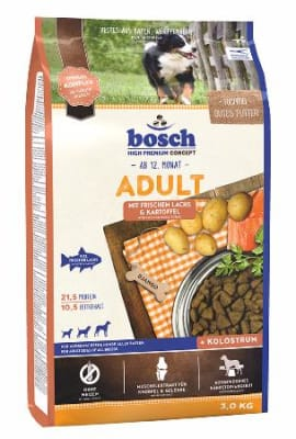 Корм Bosch Adult с лососем и картофелем для cобак, 1кг
