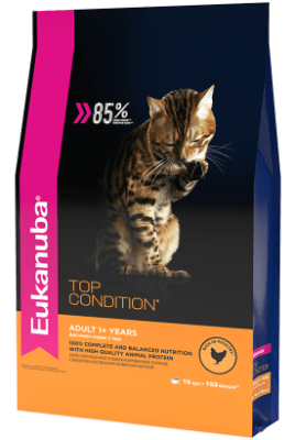 Сухой корм Eukanuba для взрослых кошек TOP CONDITION, 10кг