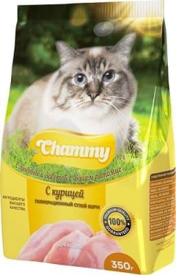 Chammy сухой для кошек 10 кг курица