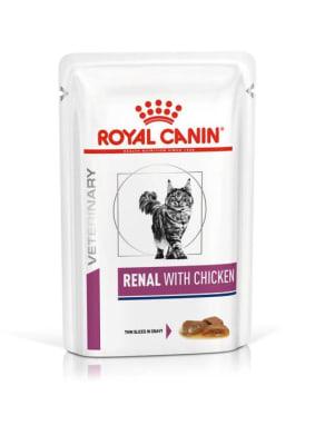 Влажный корм для кошек Royal Canin Early Renal при почечной недостаточности в соусе, 0.085кг