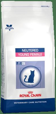 Royal Canin NEUTERED YOUNG FEMALE 10кг, Корм для стерилизованных кошек с момента операции до 7 лет
