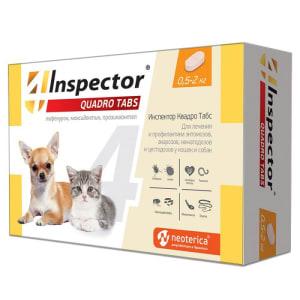 Inspector Quadro таблетки  для кошек и собак  0,5-2кг I401