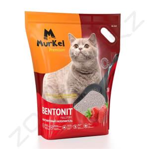 Murkel Гигиенический наполнитель для кошачьего туалета бентонит с ароматом клубники, 5л