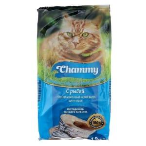 Chammy сухой для кошек 1,9 кг рыба
