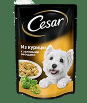 Cesar курица с зелеными овощами