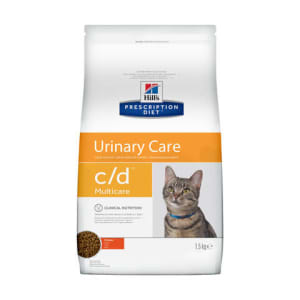Сухой корм для кошек Hill's P/D C/D Multicare Urinary Care с курицей, 1.5кг