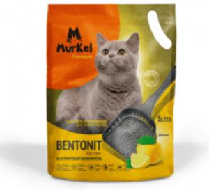 Murkel Гигиенический наполнитель для кошачьего туалета с ароматом лимона, бентонит, 4кг/5л
